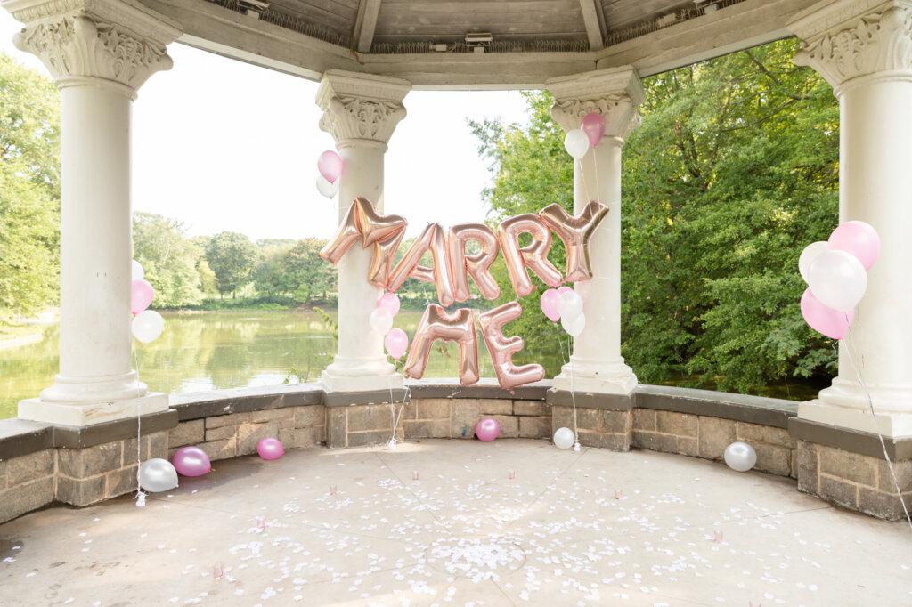 Sweet Proposal at Piedmont Park